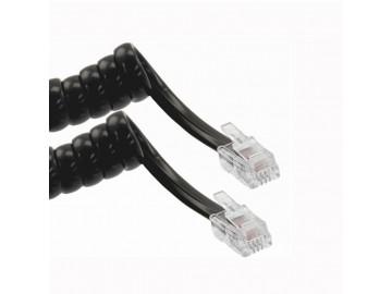 7 ft. Handset cord, mod-mod, Black