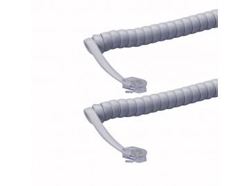 7 ft. Handset cord, mod-mod, Pastel Grey