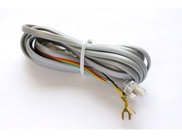7 ft. Telephone Line Cord , 6P4C, Mod-Spade