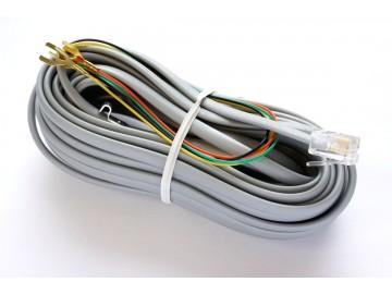 25 ft. Telephone Line Cord , 6P4C, Mod-Spade