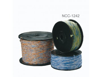 Cat.3, 1 Pair Cross connect wire, YL-BL & BL-YL, 24 AWG Copper, 1000 ft.