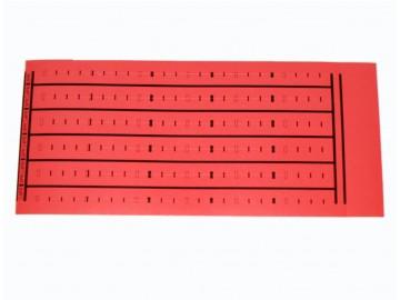 BIX Label 4 & 5 pr. Marking (5 per sheet), Red