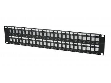 "48 Port Blank Panel for Keystone Jacks, 19"" Rack Mount"