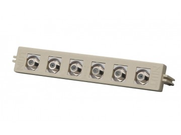 6 Port - F-Type with F81 (Female to Female Coupler) - BIX type Mount