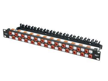 24 Port Category 6A (augmented) Patch Panel - Spaced Design
