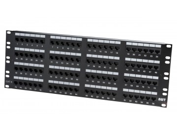 "96 Port Category 6 Patch Panel, 19"" Rack Mount"