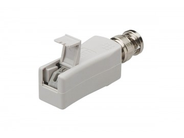 CCTV Balun, Tool-less IDC with cover to BNC (male)
