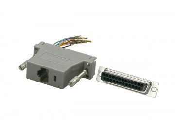 DB25 Male to 6P6C (RJ12) Jack