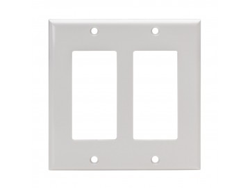 Double gang cover plate