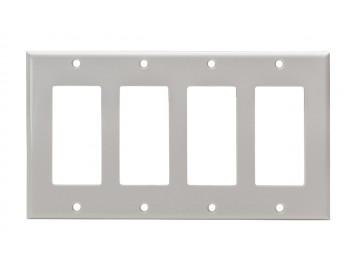 Quadruple gang cover plate
