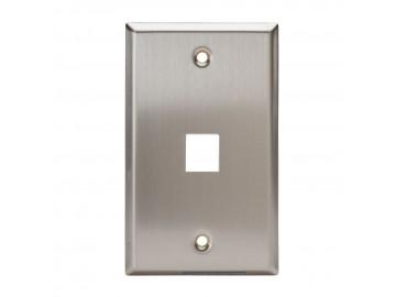 1 Port Stainless Steel Keystone Plate