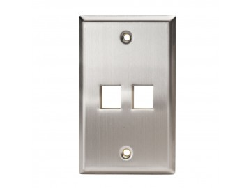 2 Port Stainless Steel Keystone Plate