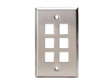 6 Port Stainless Steel Keystone Plate
