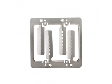 Double gang mounting bracket for single or double drywall