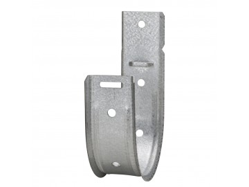 "4"" Straight J-Hook, 18 AWG Galvanized"