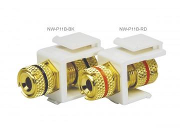 3-Way Binding Post Keystone Module, Red