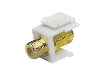 F-Type Keystone Jack 900 MHz., White