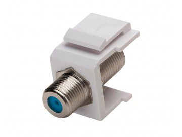 F-Type Keystone Jack 3Ghz., White