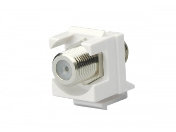 F-Type Keystone Jack, low profile, 1 Ghz., White