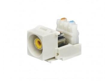RCA Keystone Module, RCA Female to 110 IDC, Yellow
