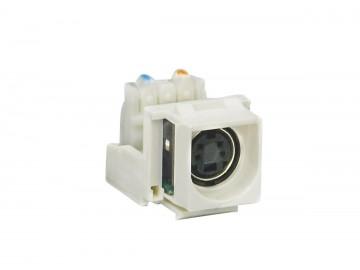 S-Video Keystone Module, S-Video Female to 110 IDC, White