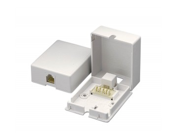 4C Quick Connect Surface Mount Jack, White