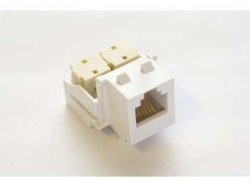 Voice Keystone Jack, 6C USOC, 110 IDC., White