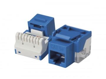 Cat. 5E Keystone Jack, 100 Mhz., 110 IDC, Blue