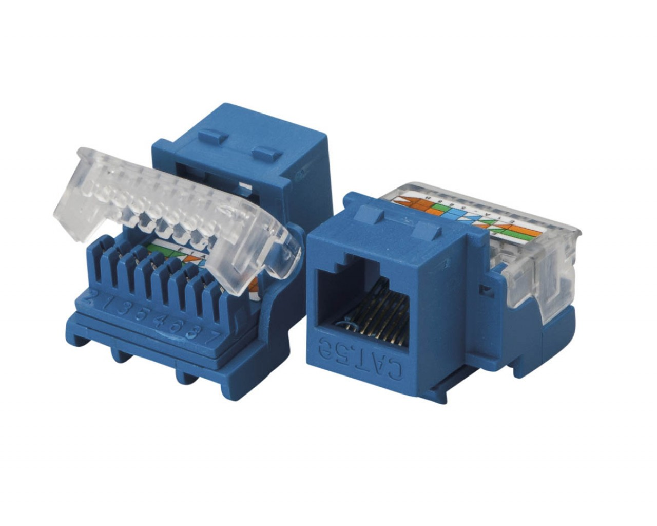 Total Cat 5e Tool Less And 110 Idc Keystone Jack 100 Mhz Blue Wiring
