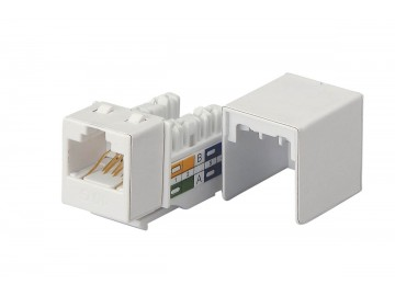 Cat. 6A (Augmented) Keystone Jack, 10 Gbps rated, 110 IDC, Colours: XX = BL, OR