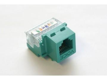 TOTAL Voice Tool-Less & 110 IDC  Keystone Jack, 6C., Green