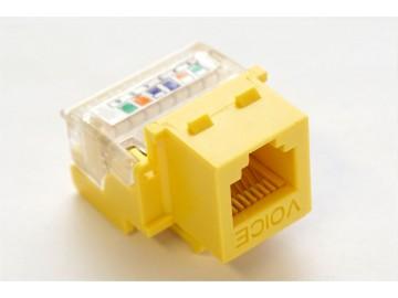 TOTAL Voice Tool-Less & 110 IDC  Keystone Jack, 6C., Yellow
