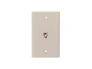 4C Designer flush mount jack, Ivory