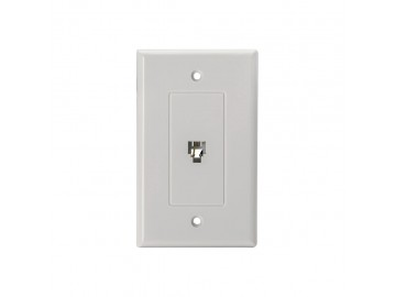 4C Designer flush mount jack, White